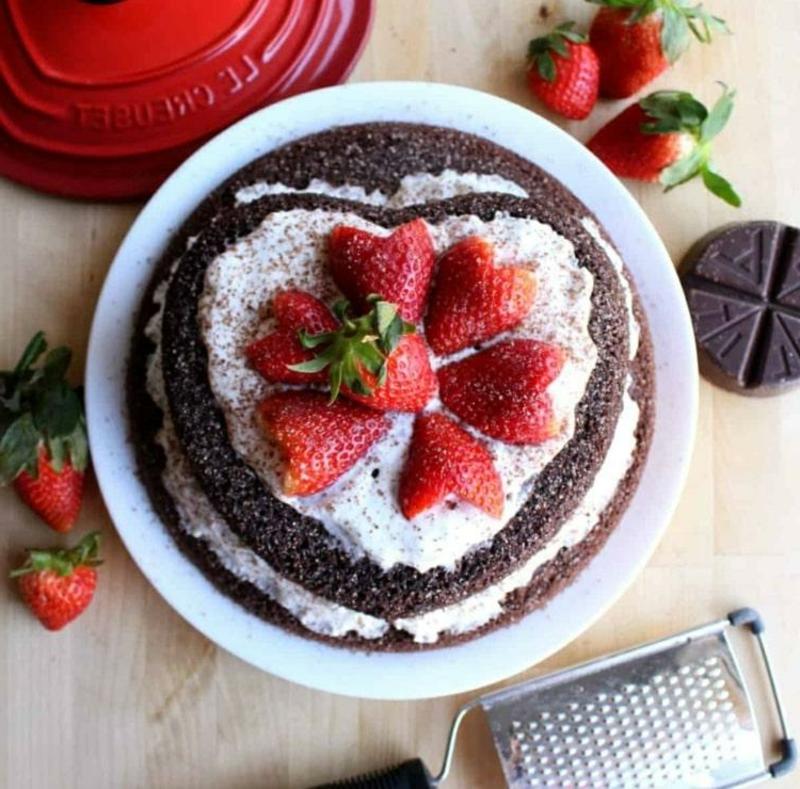 Kuchen zum Valentinstag backen