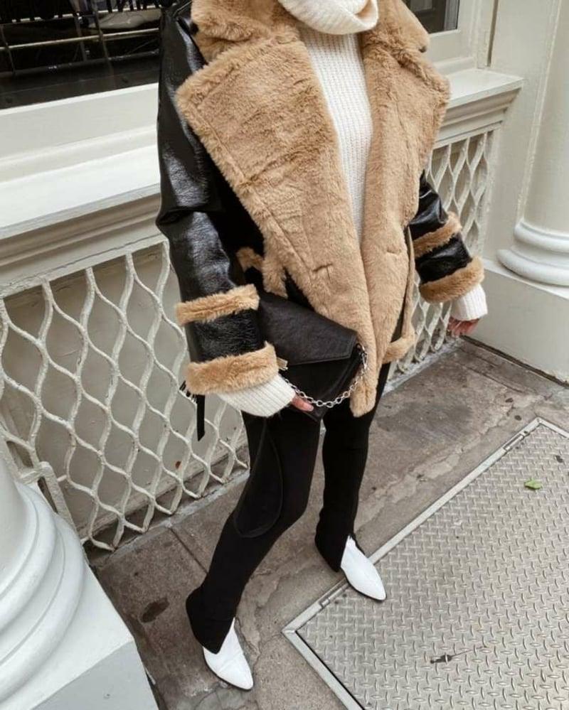 Winterjacke flauschig geschlitzte Hose