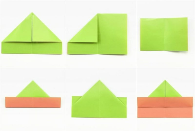 Origami falten Matrosenmütze