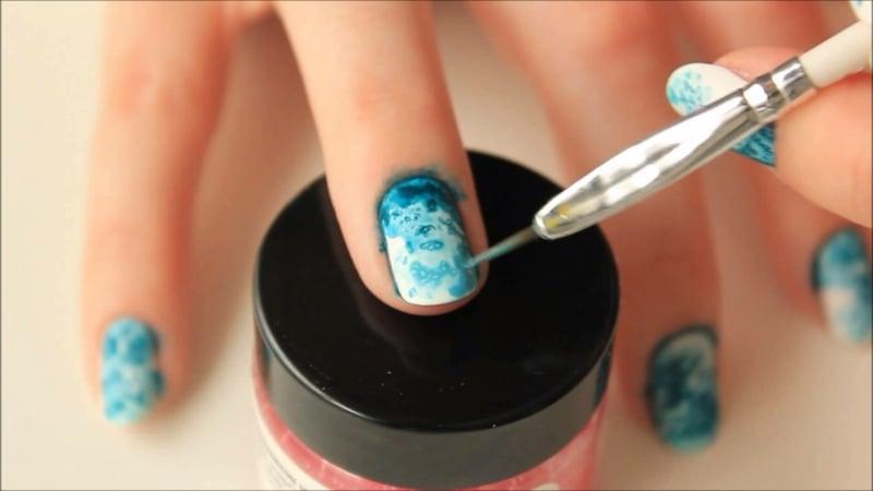 Eggshell Nails Marmor Effekt