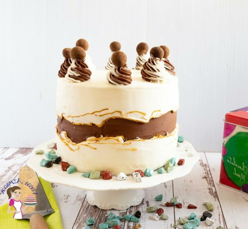 Nutelle Torte Dekoideen wunderschön