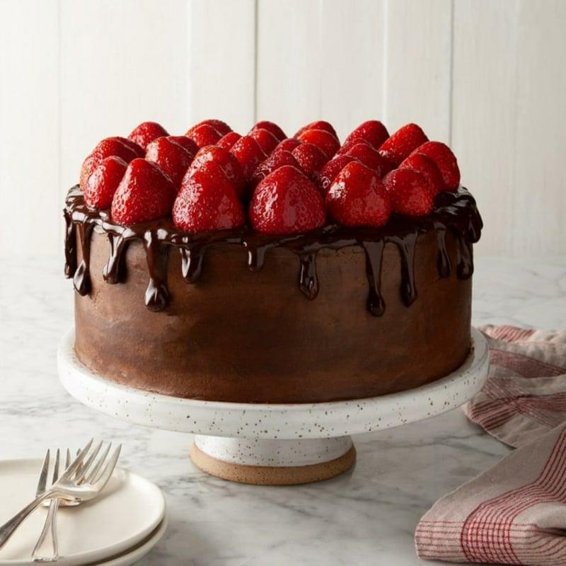 Erdbeer Deko für Torten Schokoladentorte