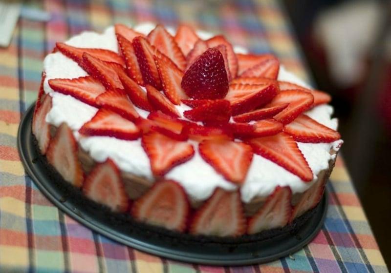 Erdbeer Deko für Torten
