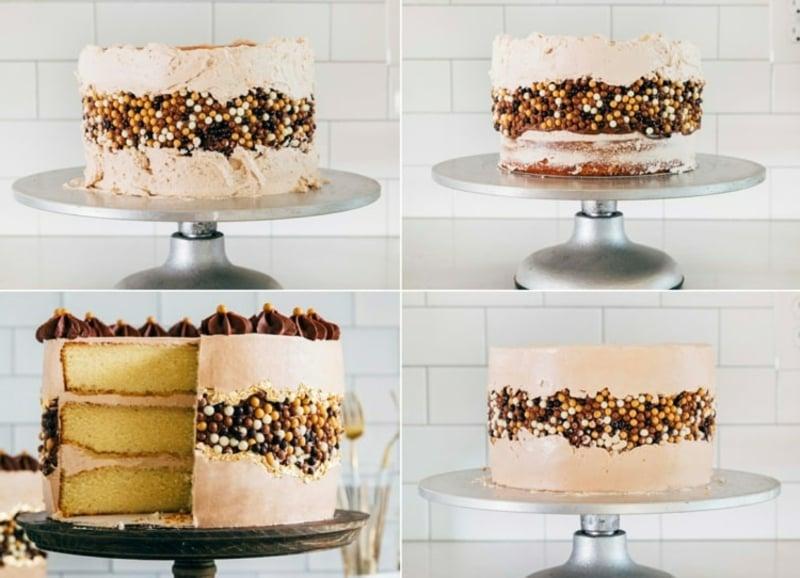 Fault line Cake schneiden und servieren