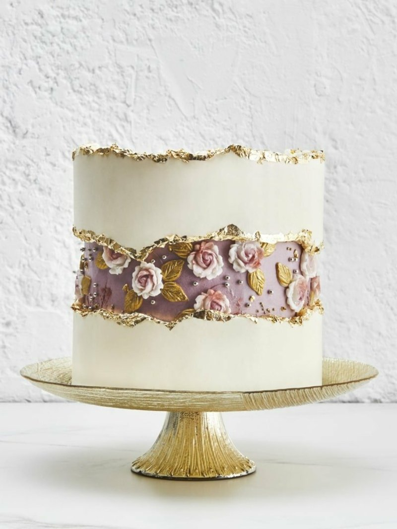 Fault Line Cake in Vintage Optik