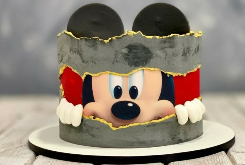 Kindertorte selber machen Mickey Mouse