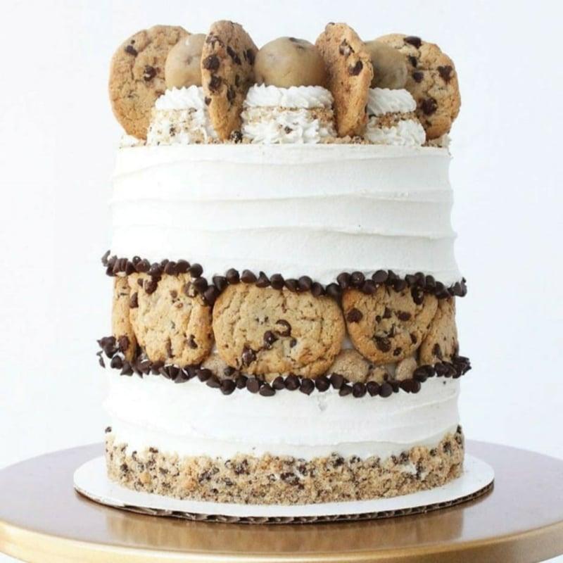 Torte verzieren mit Keksen