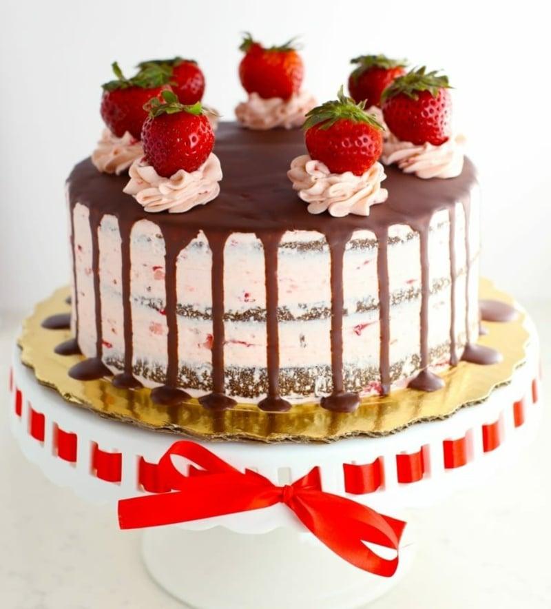 Erdbeerdeko für Torte fantastischer Look