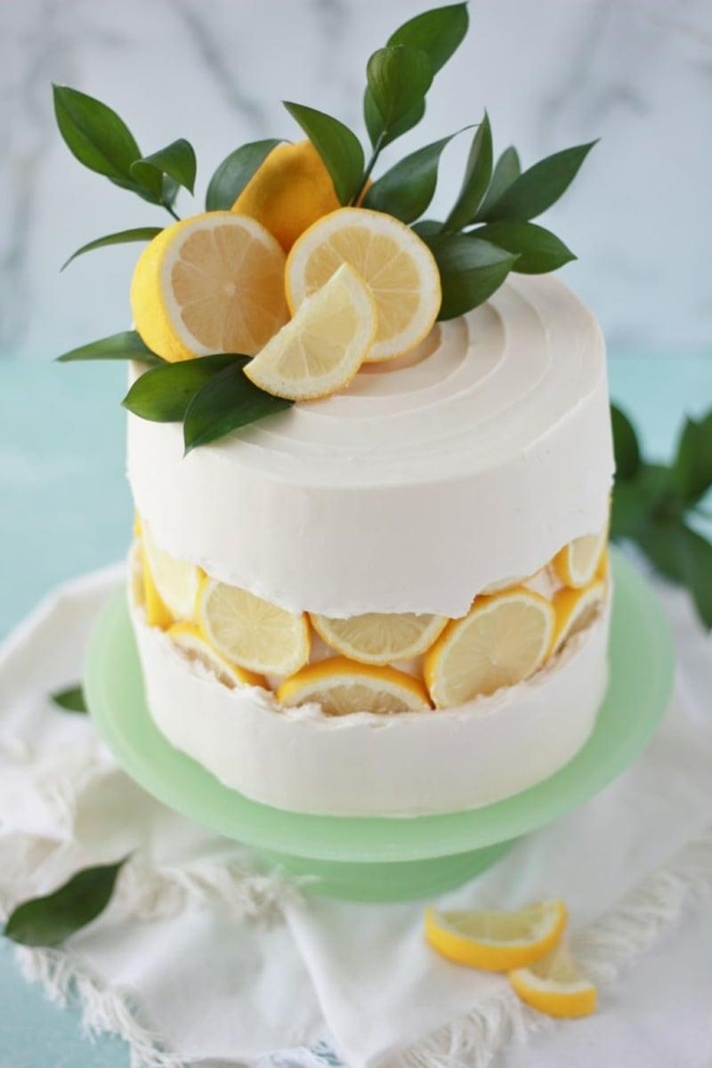 Fault Line Cake mit Zitrone und Buttercreme