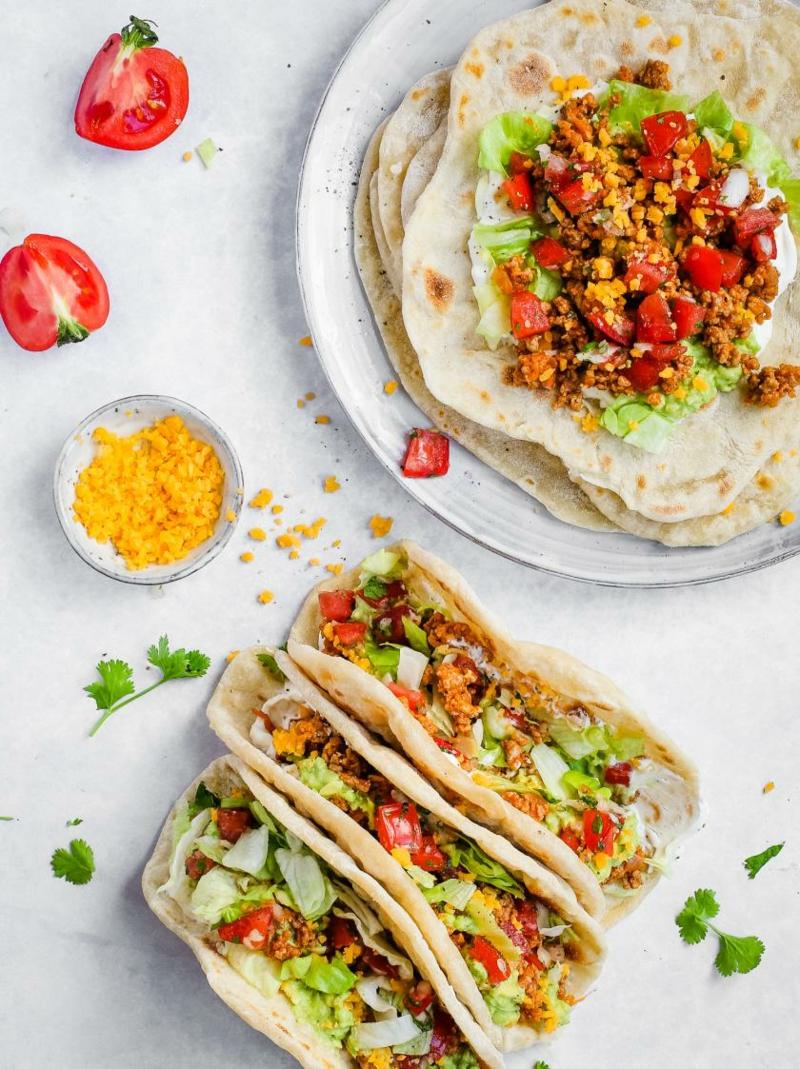 mexikanisches Tortillas leckeres Mittagessen