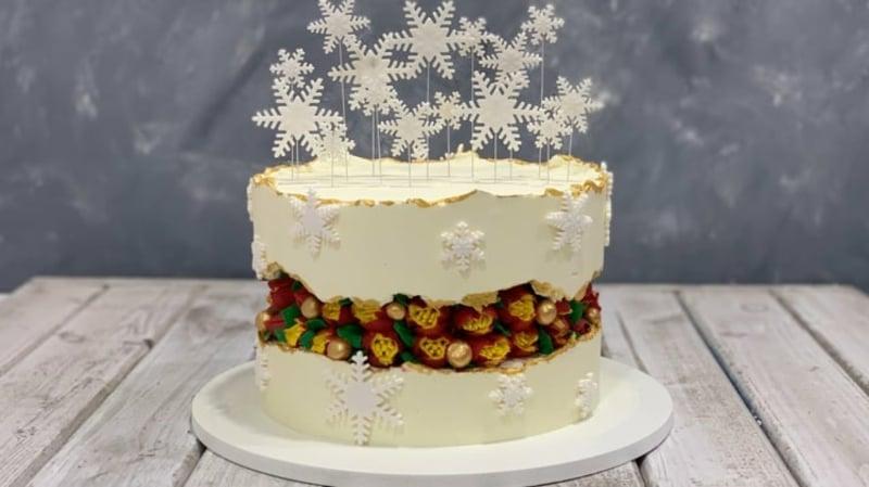 Fault Line Cake zu Weihnachten
