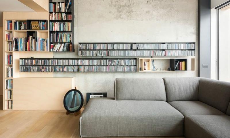 minimalistische Möbel tolle Bücherregale