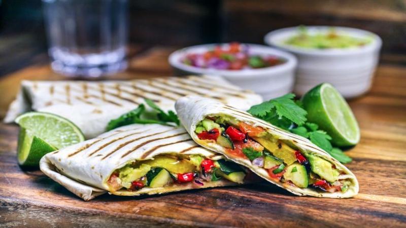 Protein Wraps mit gegrilltem Gemüse