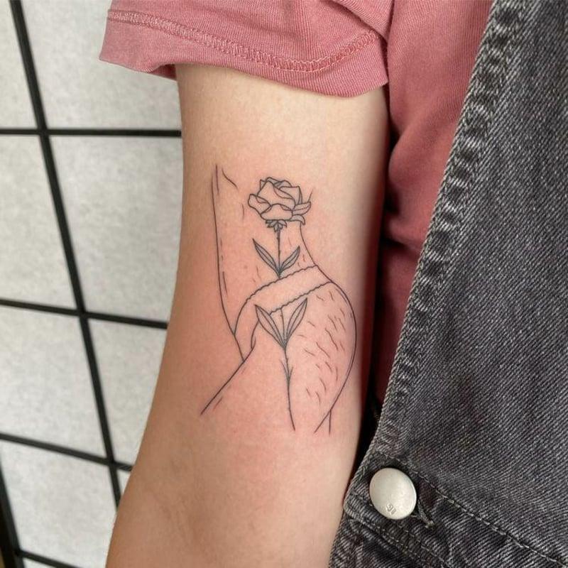 Tattoo Selbstliebe Unvollkommenheiten akzeptieren