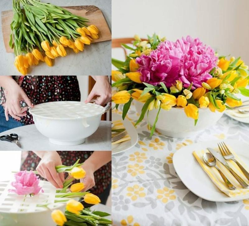 Tulpengesteck machen hilfreiche Tipps
