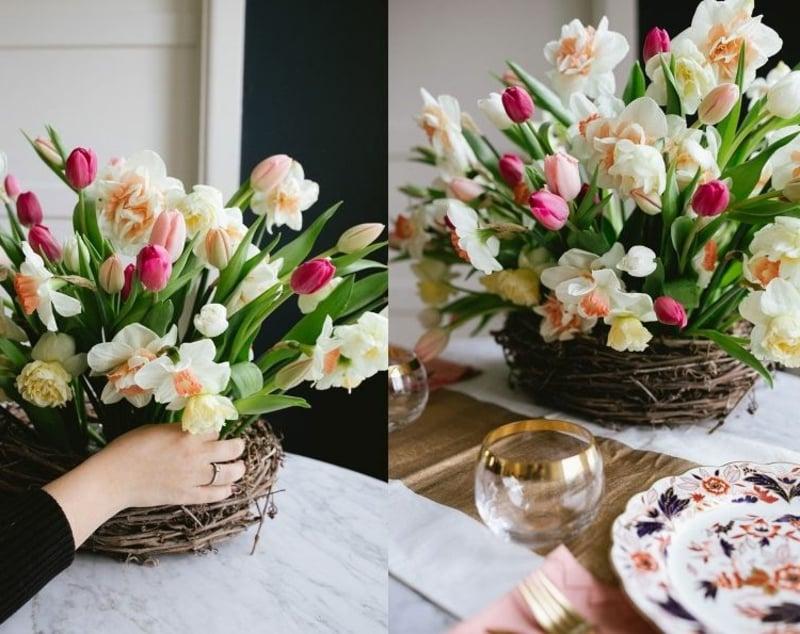 Blumengesteck Tulpen Narzissen