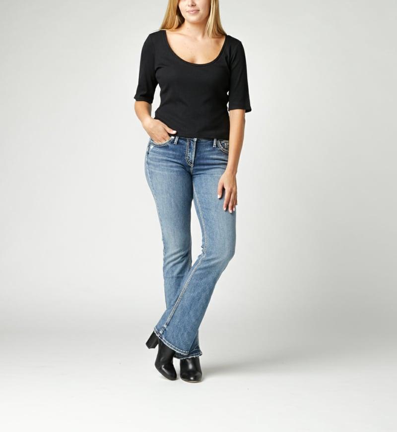 klassische Bootcut Jeans in Hellblau