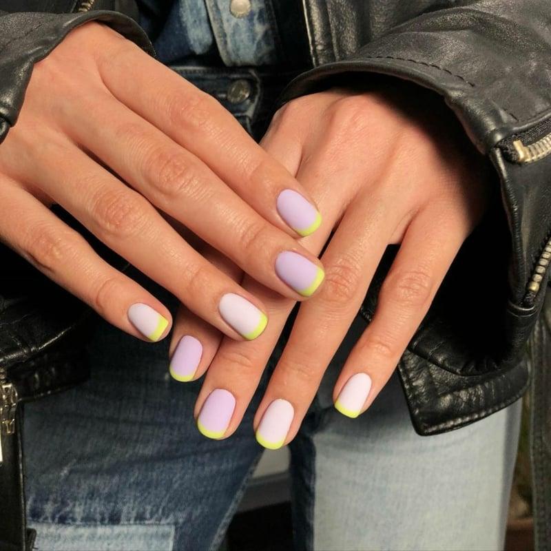 kurze Fingernägel Pastellrosa