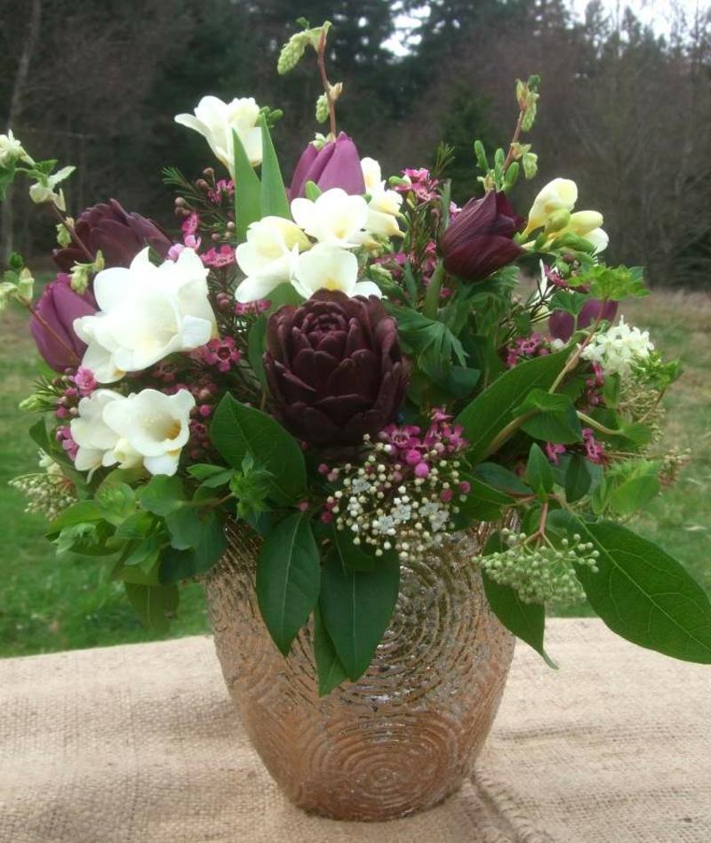 Blumen arrangieren Deko Frühling