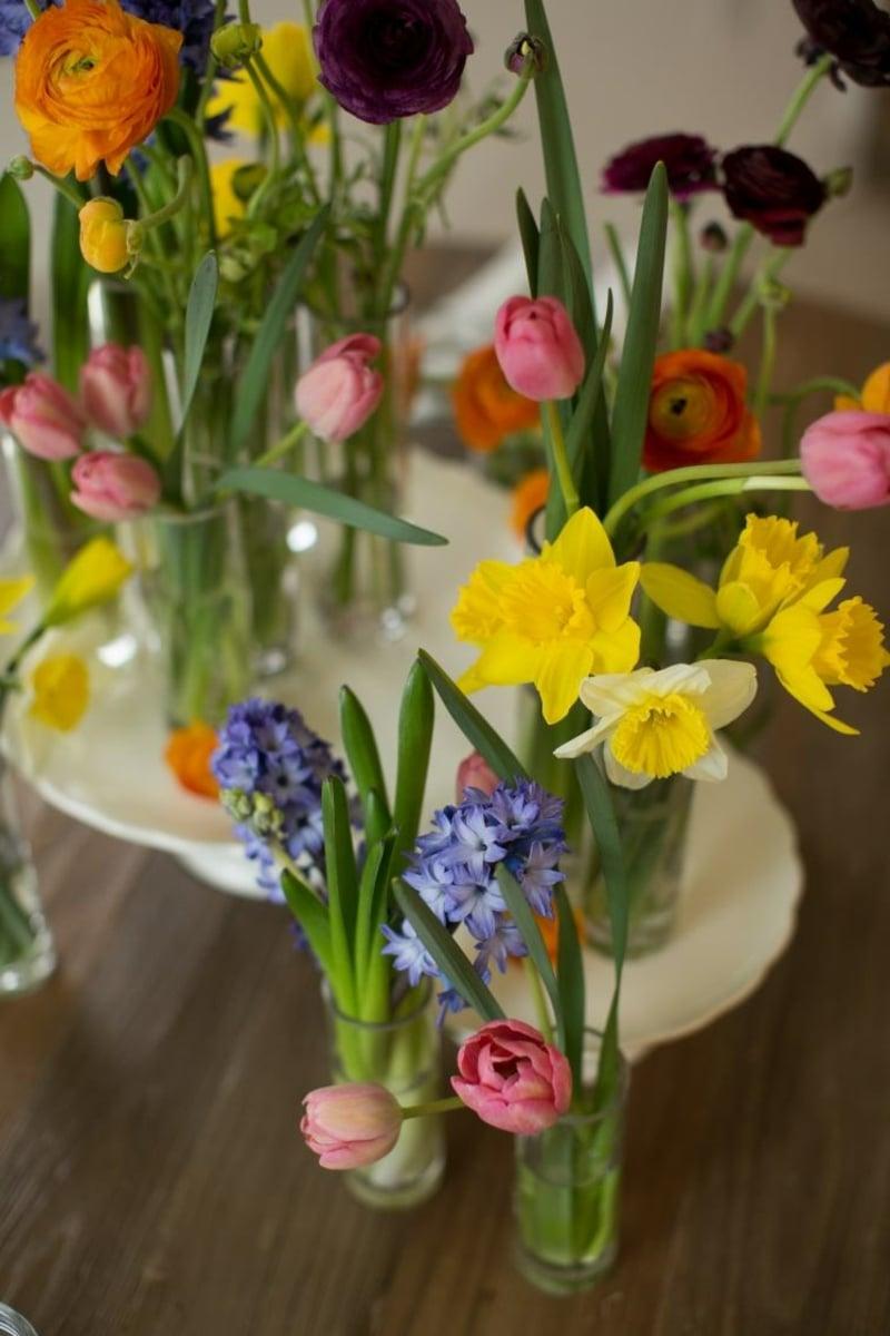 Tischdeko Frühlingsblumen