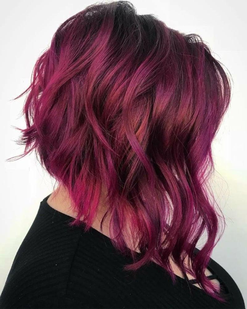 Haare rosa färben Nuance Fuchsia