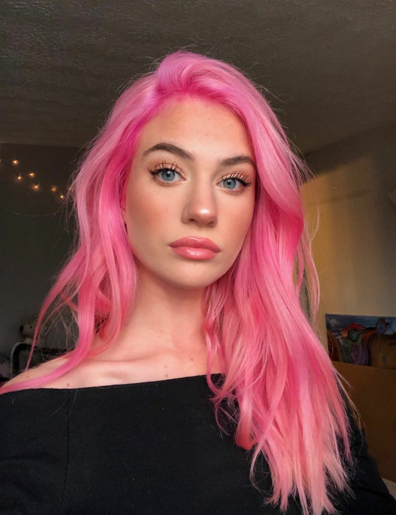 coole pinke Haare
