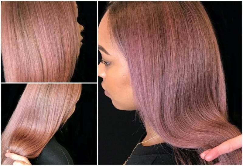 trendige Haarefarben Rosebraun