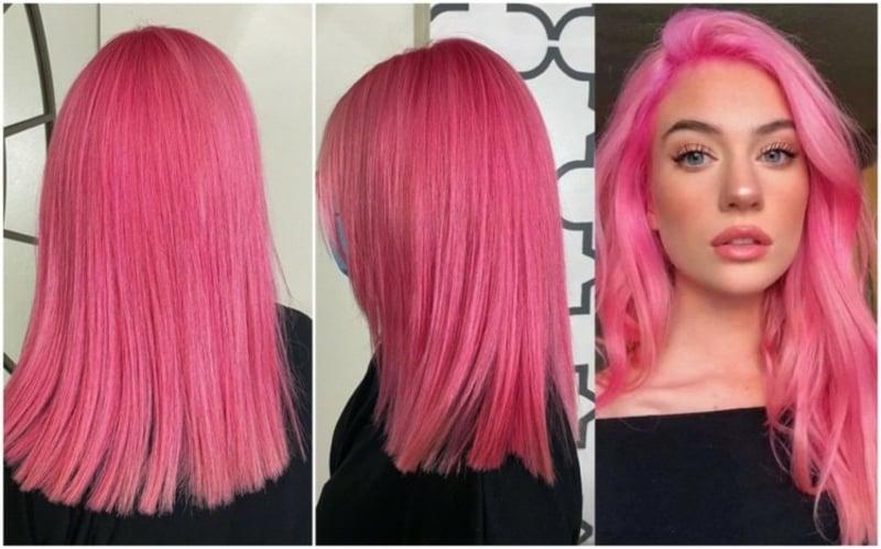 Trendhaarfarbe Flamingo Pink