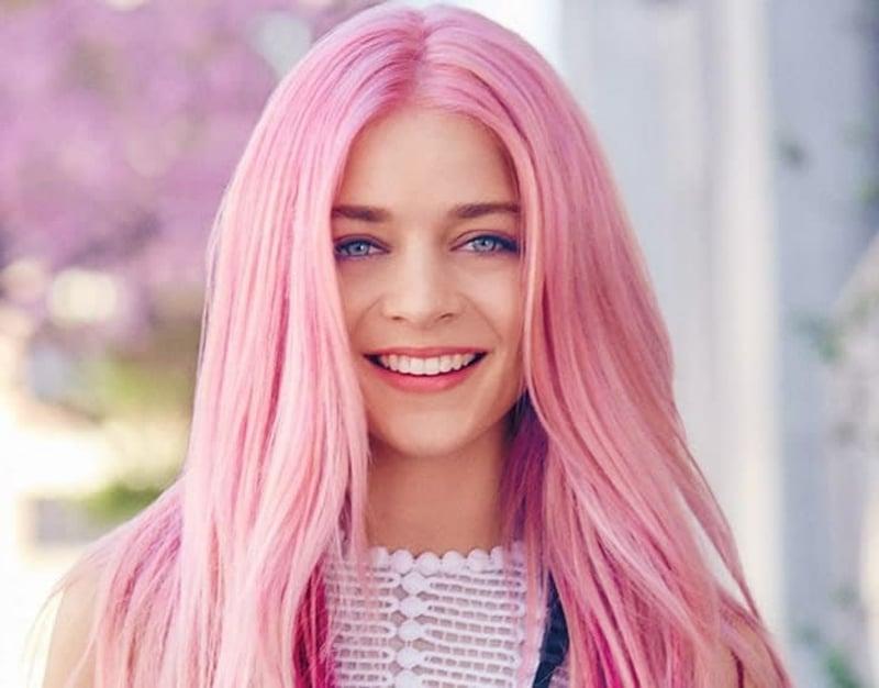 Haare rosa echter Hingucker