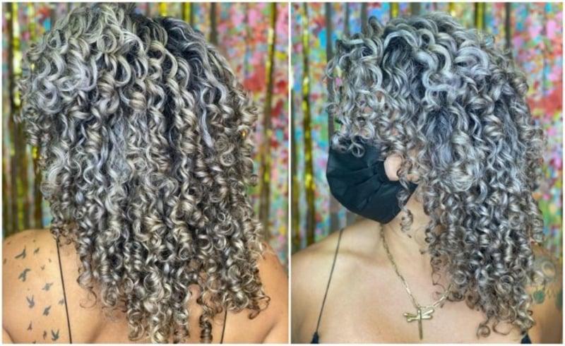 Haarfarbe Silberblond Metallic-Unterton