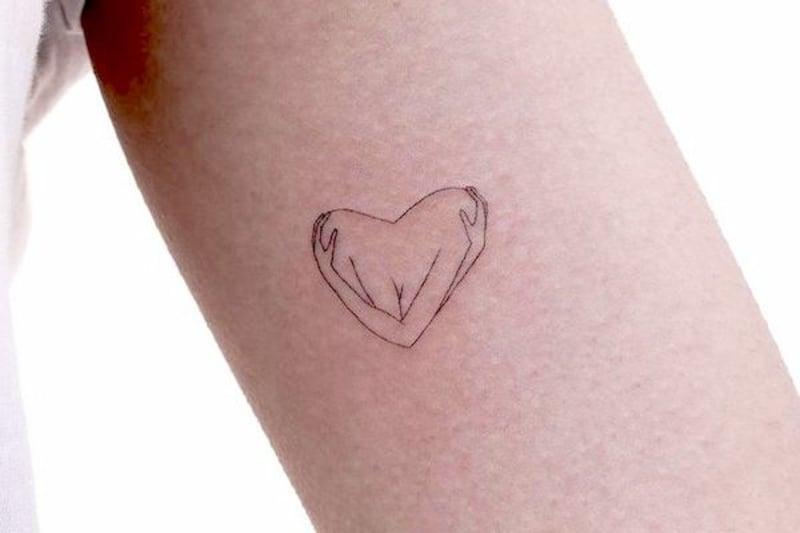 Selbstliebe Tattoo niedliches Herz