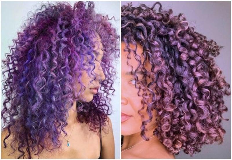 Naturlocken violett sehr modern