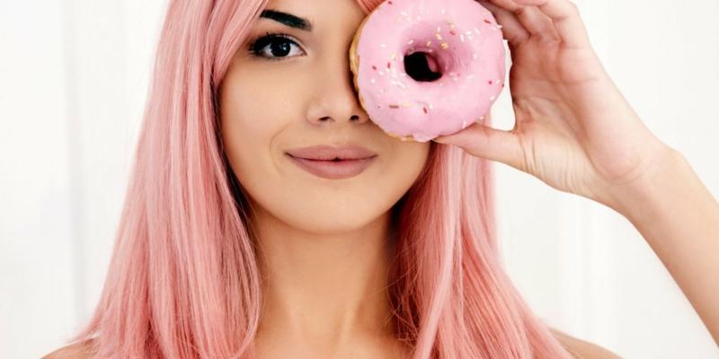 Haare rosa pastellig herrlicher Look