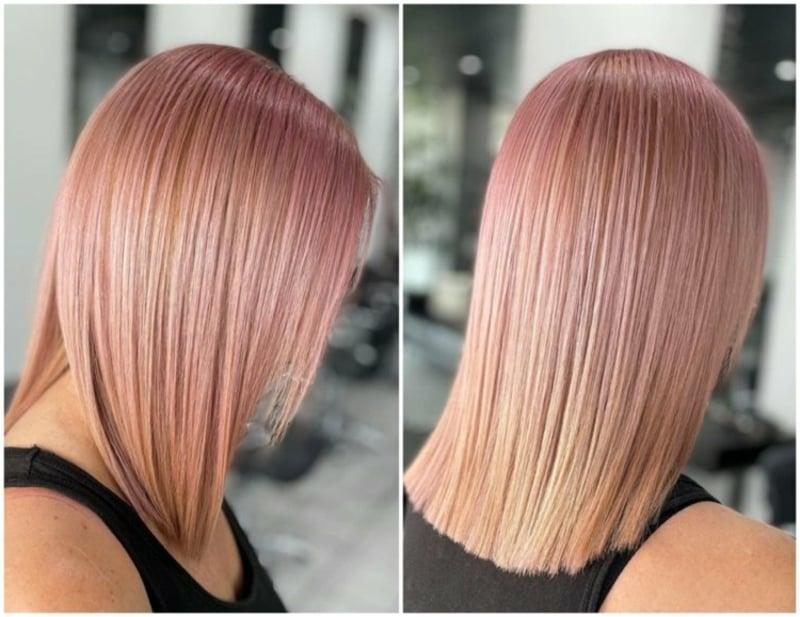 Haarfarben Trends 2021 Roseblonde