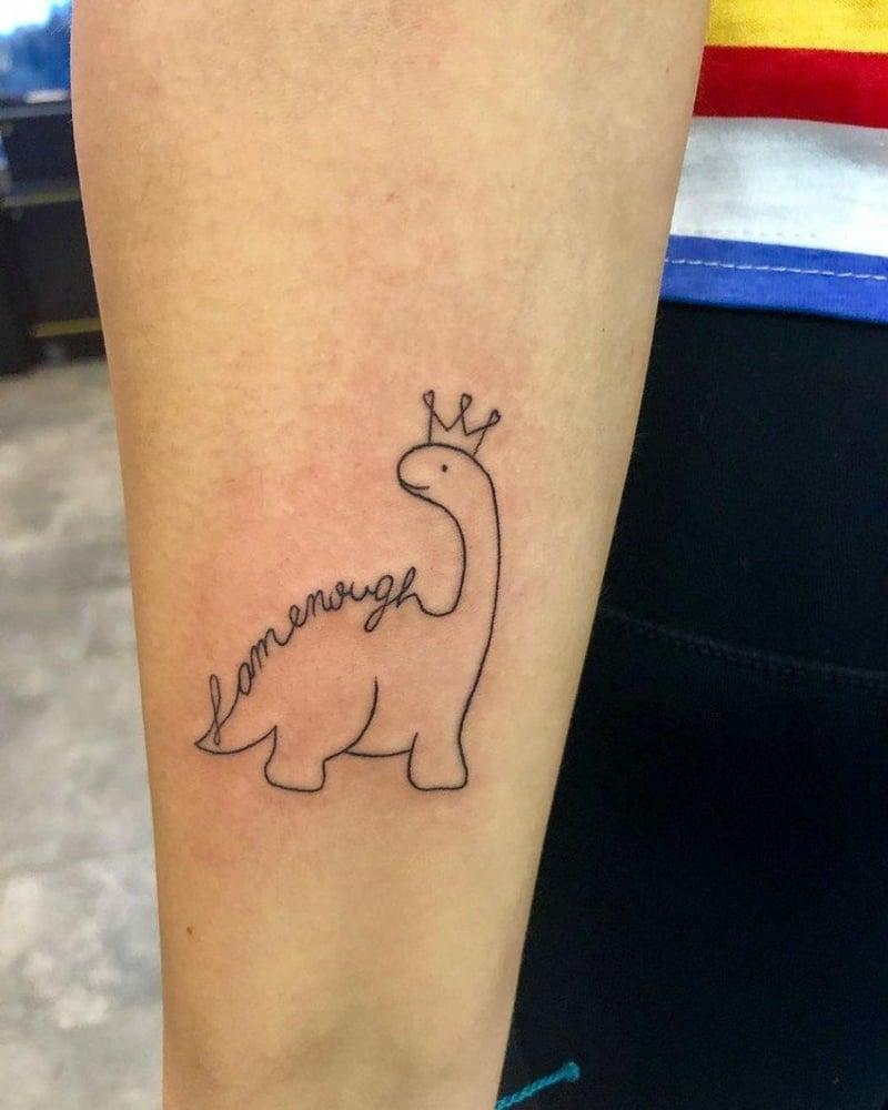 """interessanter Tattoo """"I am enogh"""""""