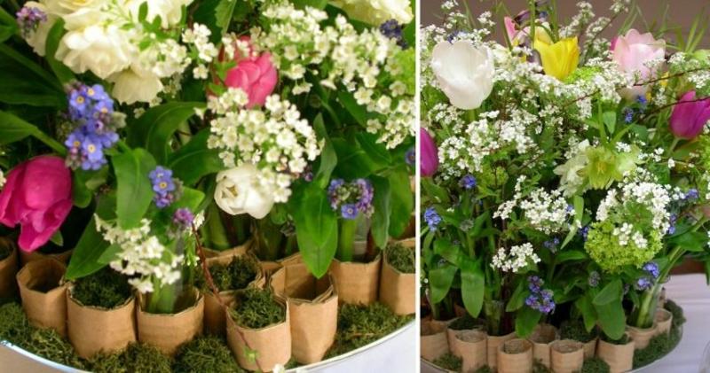 wunderschöne Frühlingsdeko mit Tulpen