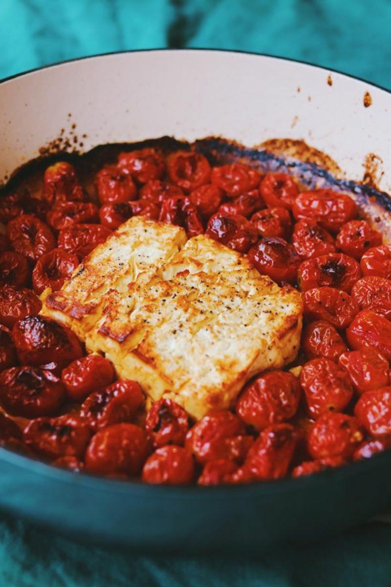 gebackener Feta Käse mit Tomaten einfach unwiderstehlich