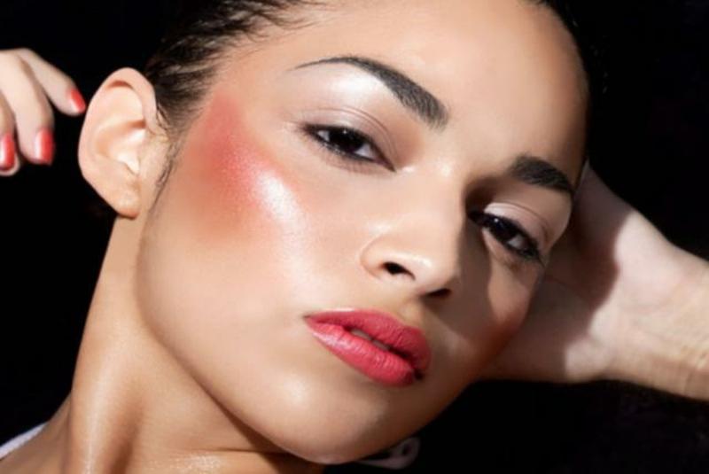 Draping Make up rosa und silberne Töne
