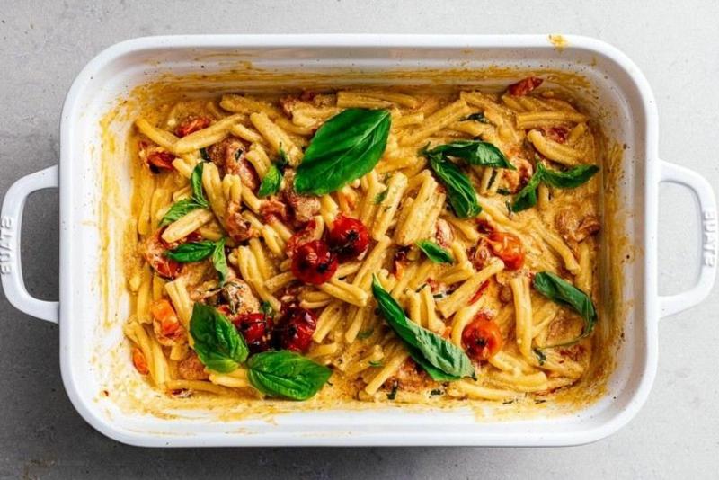 Feta Pasta Rezept kleine Auflaufform
