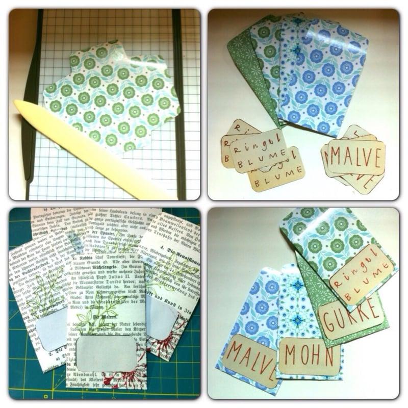Päckchen für Samen buntes Papier