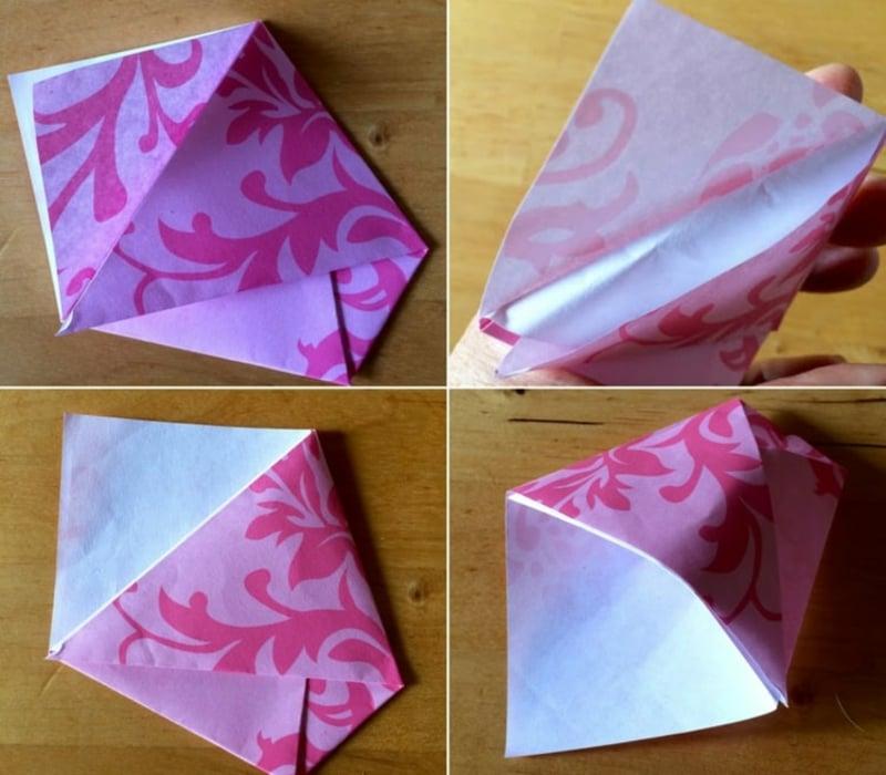 Samentütchen Origami Papier
