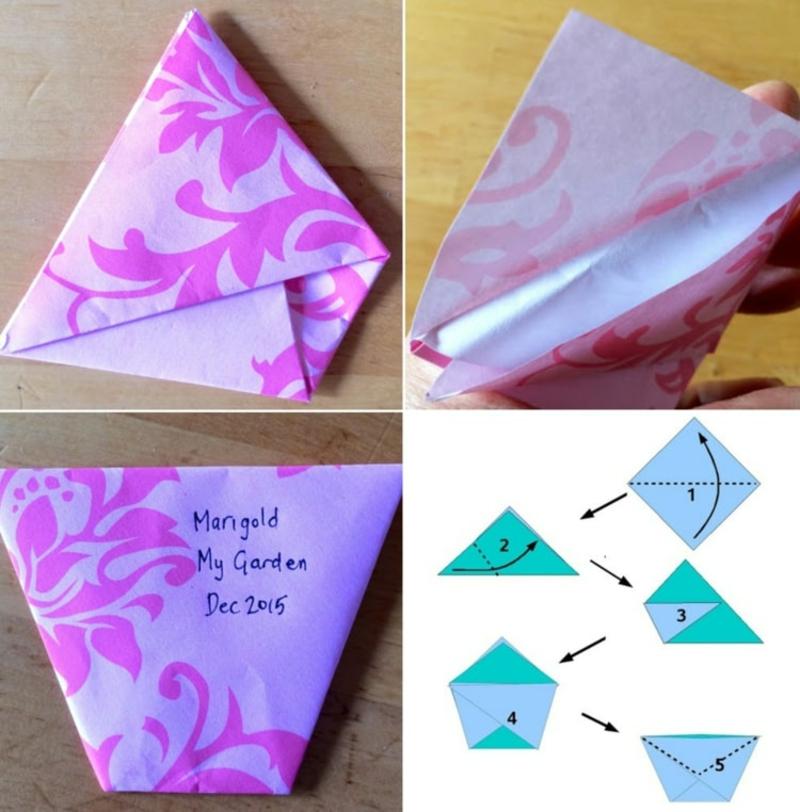 tolle Bastelideen Origami Papier
