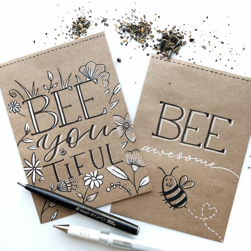 Papiertüten für Samen toll dekorieren