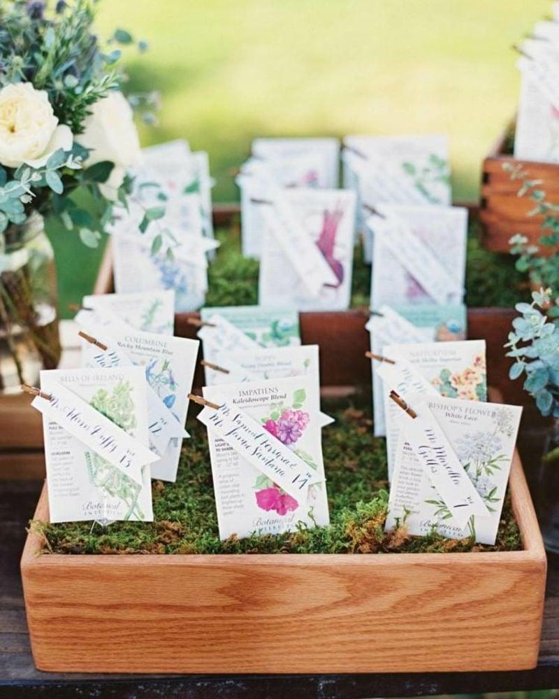 Papiertüten schön ordnen Samen