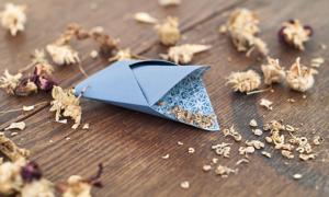 kleines Samentütchen Origami