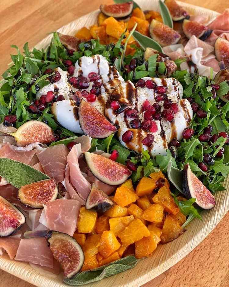 Buratta Rezepte Feigen mit Salat und Käse