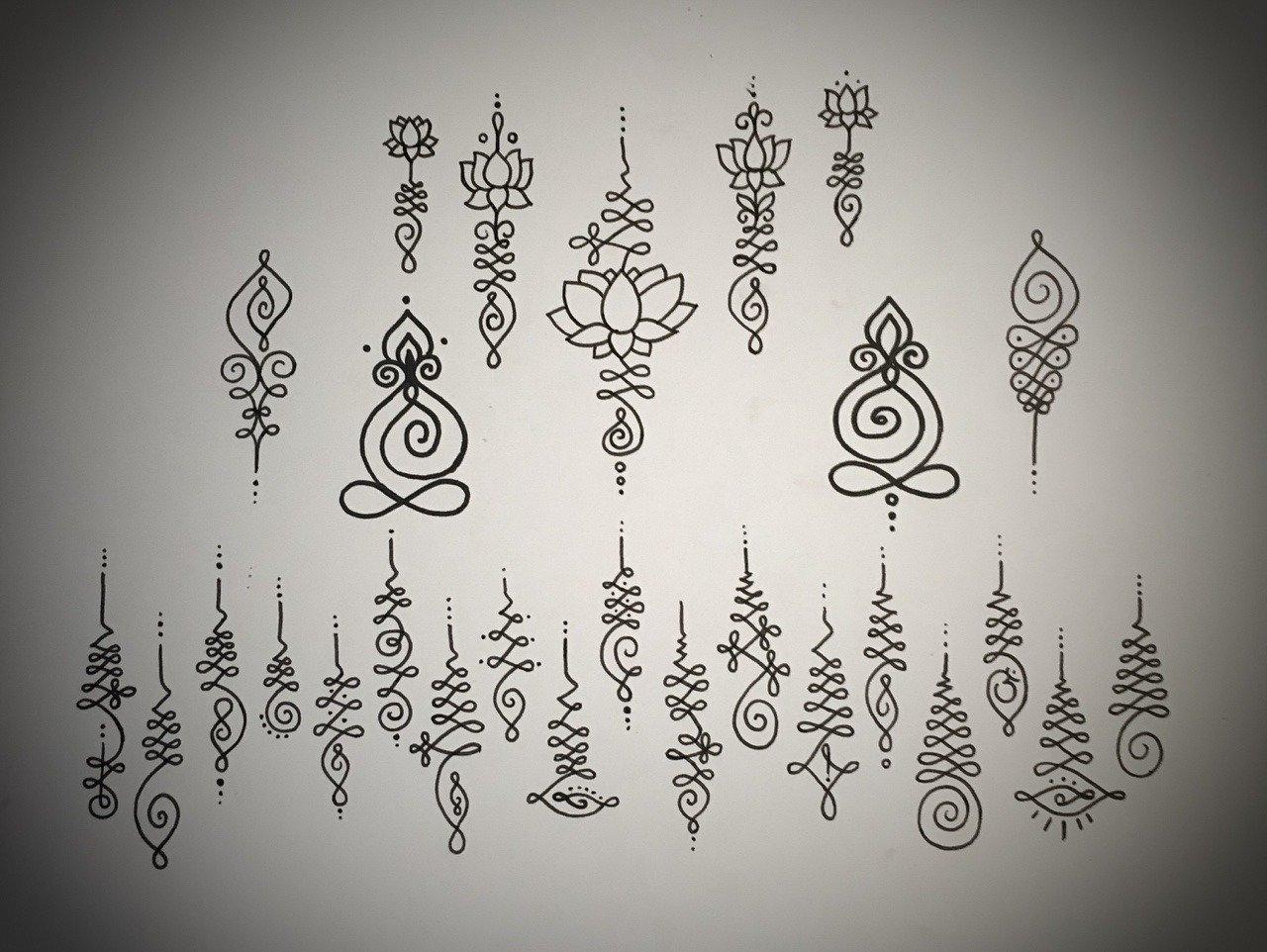 Tattoovorlagen Unalome
