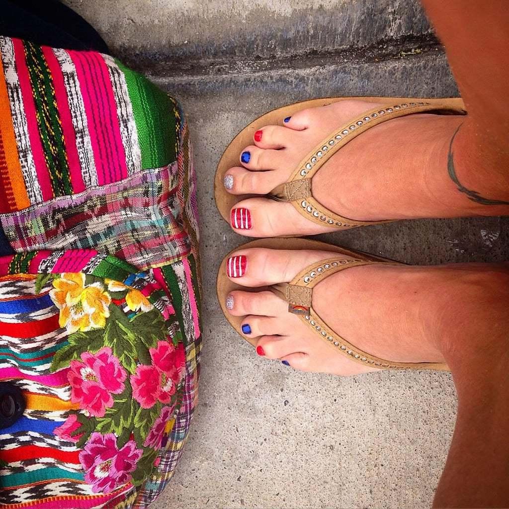 Fußnägel lackieren - Sommer Design für Fußnagellack