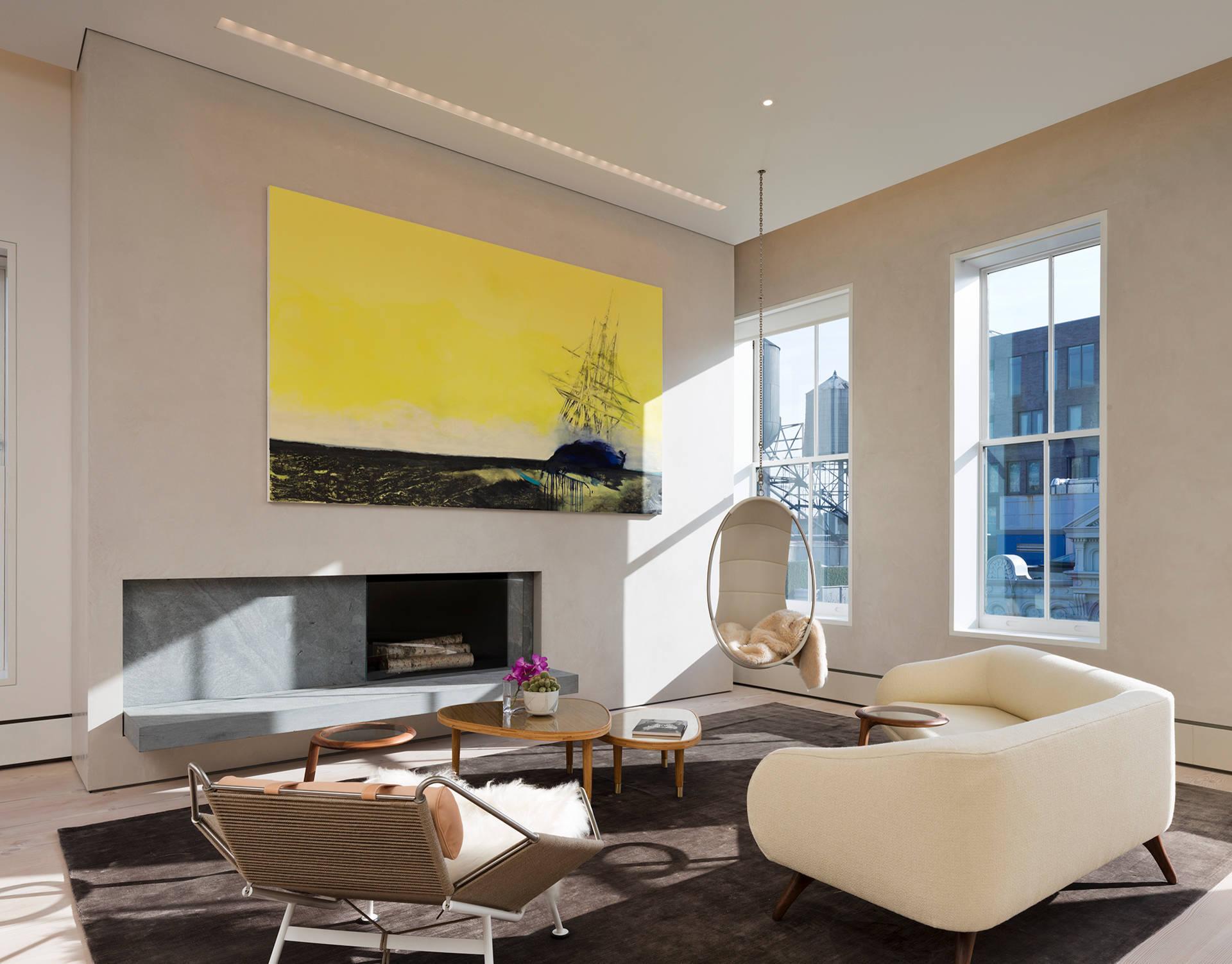 Gemälde für Zuhause und bestehende Dekoration zu einer harmonischen Einheit verbinden