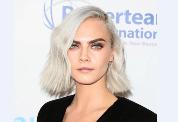 weißblonde Haare Cara Delevigne
